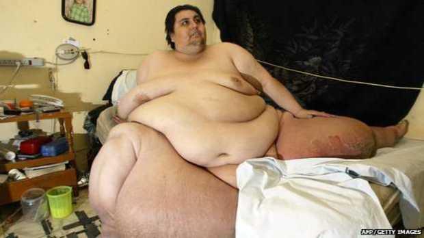 Pria paling gemuk meninggal dunia