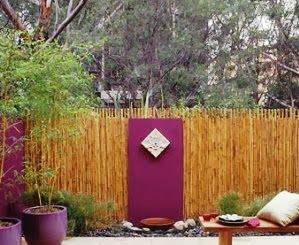 Pagar bambu untuk rumah