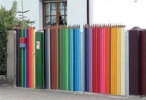 contoh pagar dari bambu unik