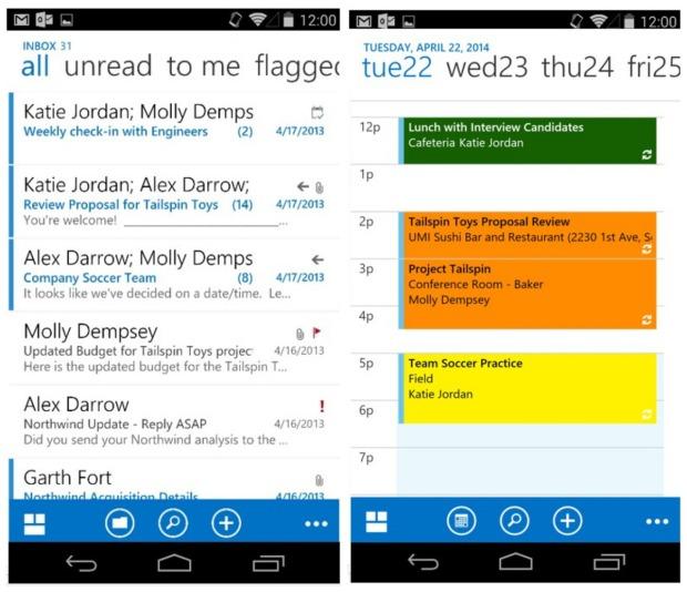 Aplikasi Outlook untuk Android