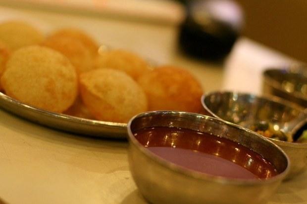 Panipuri masakan khas mumbai india