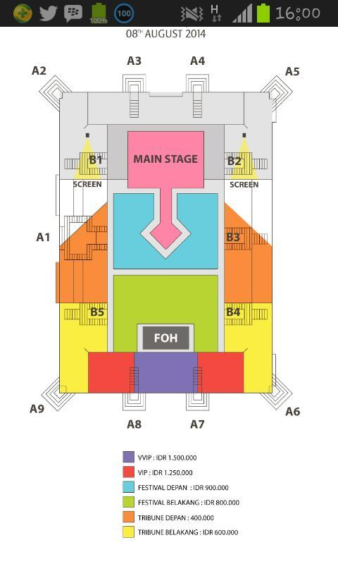Denah Konser Shinzu'i White Concert