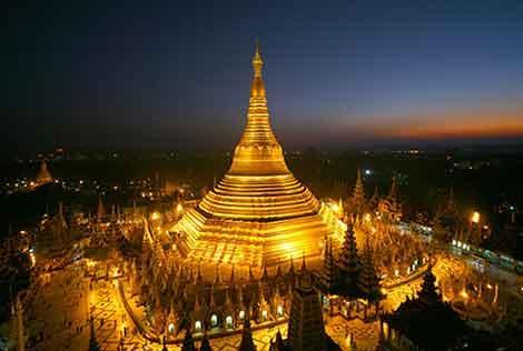 Pagoda Shwedagon, Myanmar