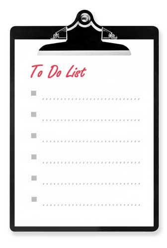 Daftar perencanaan hidup