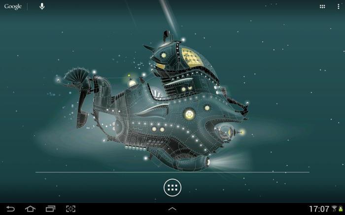 Nautilus, Aplikasi Live Wallpaper Android