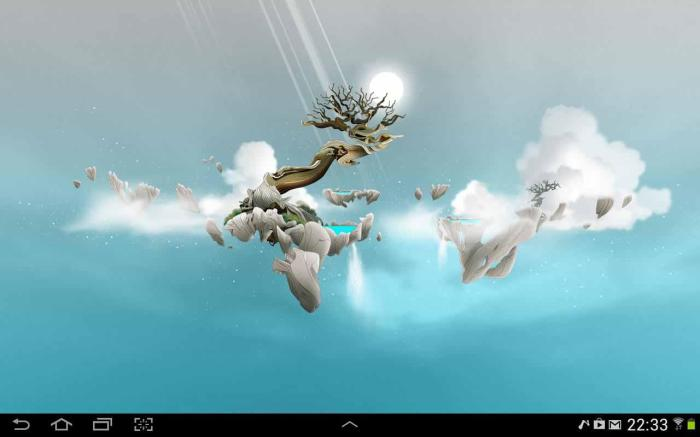 Sky Islands LWP, Aplikasi Live Wallpaper Android