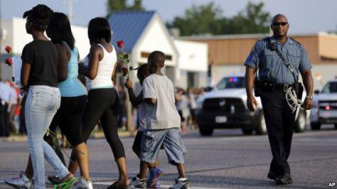 Suasana Pasca Penembakan di Kota Ferguson