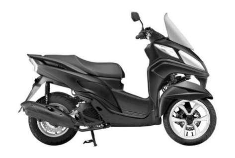 Yamaha Tricity Tampak dari Samping