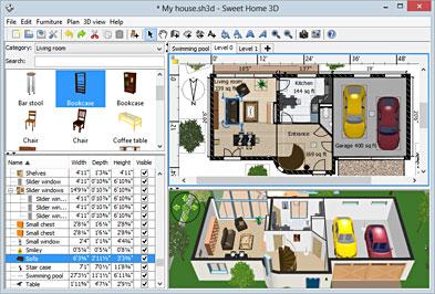 Download Software Gratis untuk Desain Rumah - Sweet Home 3D