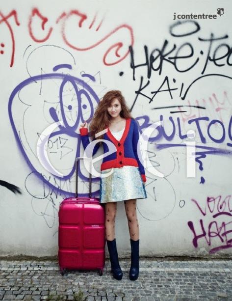 Foto Jessica untuk majalah Ceci