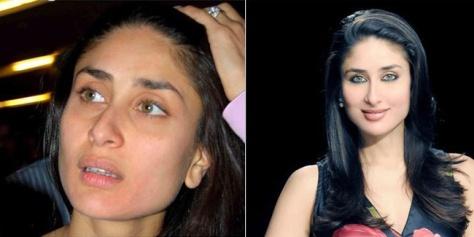 Foto Kareena Kapoor Tetap Cantik Tanpa Make-up