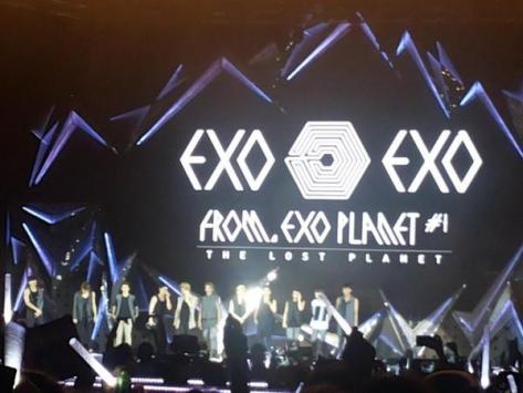 Foto konser EXO di Jakarta, Indonesia