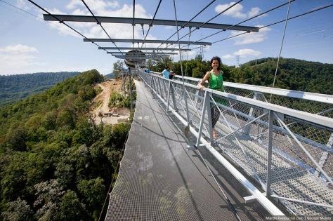 Inila jembatan gantung terpanjang di dunia
