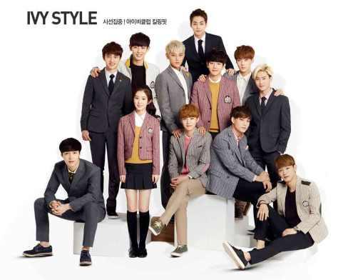 Kumpulan Foto Ganteng EXO dalam pemotretan Ivy Club