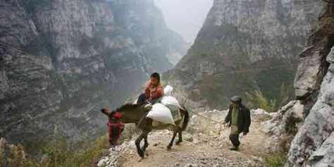 Luar biasa perjuangan anak ini demi sekolah, dia naik keledai menyusuri bukit