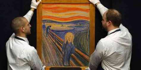 Lukisan The Sream yang Terinspirasi oleh Letusan Gunung Krakatau