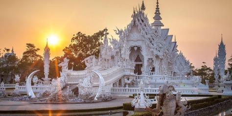 Obyek Wisata Wat Rong Khun, Thailand