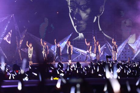 Suasana konser EXO di Jakarta